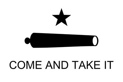 Texas Revolution 'Come and Take It' Flag